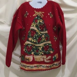 Heavily Embellished Christmas/Holiday sweater